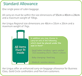 New Aer Lingus Cabin Baggage Allowances Ittn