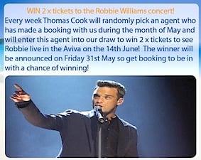 Thomas Cook Robbie Williams