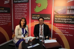 The Shannon team of Isobel Harrison and Declan Power were manning their stand at the IATA Conference.