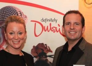 Ingrid Aagesen, Senior Manager - Ireland, and Ian Scott, Director - UK & Ireland, Government of Dubai Department of Tourism and Commerce Marketing