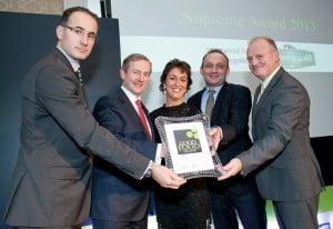 The Mount Juliet receive an award from An Taoiseach ,Enda Kenny TD