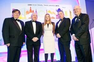 Ready to celebrate the 22nd anniversary of the travel industry 'Oscars', the Irish Travel Trade Awards, were the Irish Travel Trade News team of Neil Steedman, Michael Flood, Hilary Drumm, Ronan Flood, and Ian Bloomfield