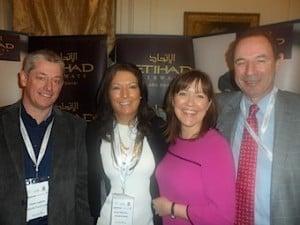 Aidan Coughlan, World Travel Centre; Karen Maloney and Beatrice Cosgrove, Etihad Airways; and John Cassidy, Cassidy Travel