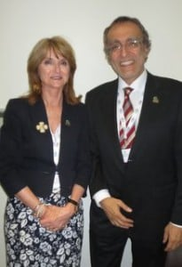Hosting the trade evening were Alison Cryer and Philippe Georgion from Sultnate of Oman, Ministry of Tourism