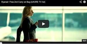 Ryanair Second Bag Advert