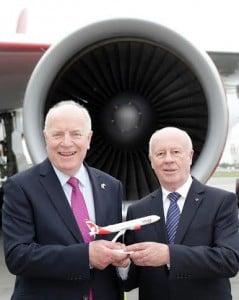 Robert Atkinson, Air Canada GM with HE Loyola Hearn, the Canadian Ambassador  to Ireland.
