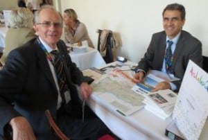 George Barter from Barter Travel meets with Carlos Bendodo Daunino, TRH Hotels.