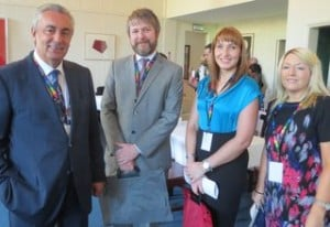 Pedro Garcia,Viajes Euroamerica,with Shane Cullen,Lisa Warren and Elaine Massey all from Killiney Travel.