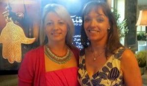 Mary Denton and Tanya Airey ,Sunway at the Tunisia brochure launch .