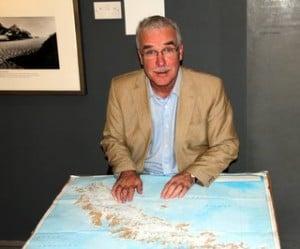 John Galligan from John Galligan Travel plotting the cruise route.