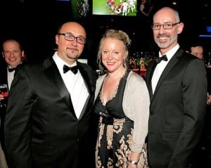 Ingrid Aagesen, Dubai Tourism (centre), with Filippo Rocchi and Stephen Davitt, Emirates