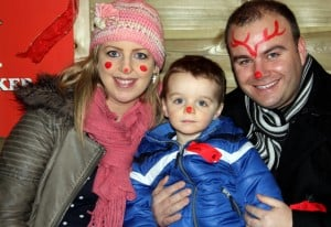 Golf journalist Peter Finnan,was  at Rathwood with his wife Laura and daughter Caleb.