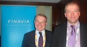 Joni Sundelin, Senior Vice President, and Timo Järvelä, Head of Account Management and Route Development, Finavia, on their visit to Dublin
