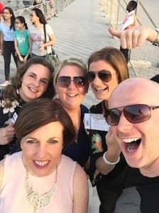 Stella Grant, O'Hanrahan Travel; Lynne Casey, Fahy Travel; Lorraine O'Connor, Travelfox; Donna McGann, Eimer Hannon Travel; and Rob Macdonald, Emirates, are all smiles with their One Direction concert tickets