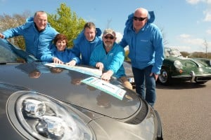 Pictured are members of Team Porsche Club Ireland with Kieran Twomey, Southern Region Coordinator and Marie Healy, Fáilte Ireland ahead of their Wild Atlantic Way 'run'.   Pic John Sheehan Photography