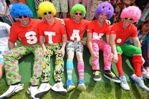Wacky trousers finalists at the 2014 Irish Open