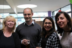 Karen Higgins and Gianni Massa from the Travel Broker meet Renata Pereira and Georgina Navarro from RCSI travel.