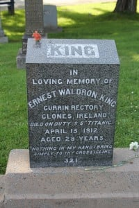 The grave of an Irishman.