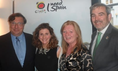 José María Rodríguez-Coso, Spanish Ambassador to Ireland, with Sara Rivero, Media Manager; Kathryn MacDonnell, Travel Trade Manager; and Gonzalo Ceballos, Director, Spanish Tourism Office, Dublin