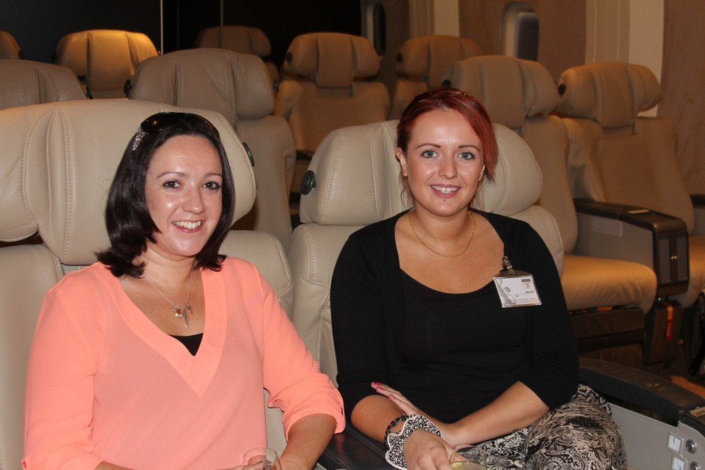 Irene McCaffrey,The Travel Department and Emma Morrision,WTC-NI at the Do &Co briefing.