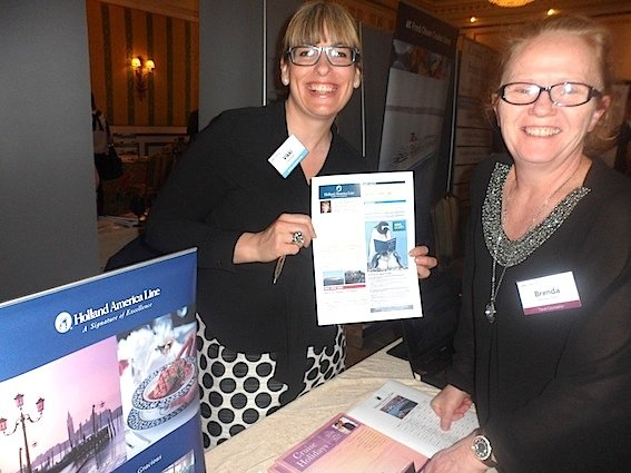 Vikki Courtman, Holland America Line, with Brenda Murray-Flynn