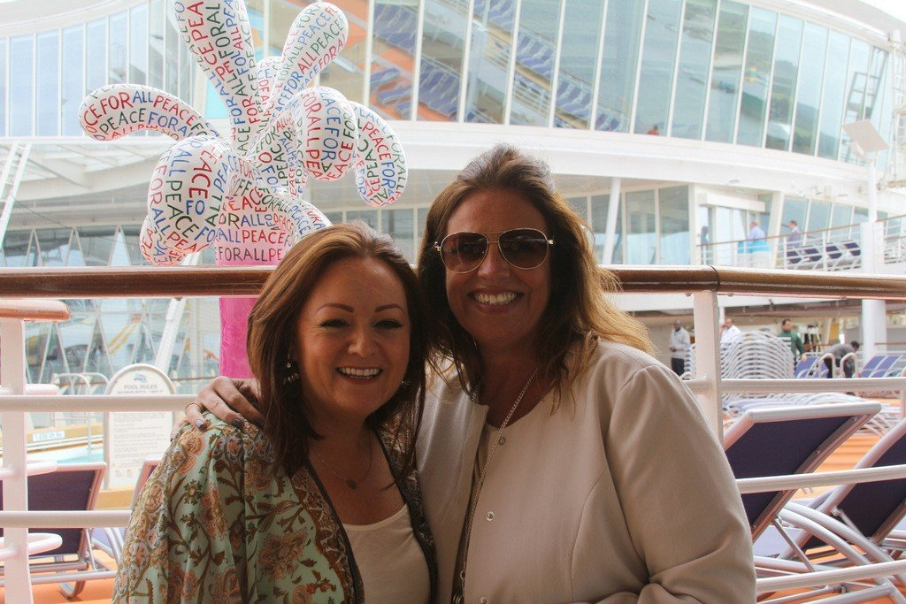Nikki Stanford, Click & Go meets Dawn Conway from Sunway on Harmony of the Seas.