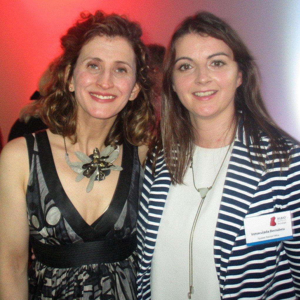 Sara Rivero and Inma Bernabeu from Spanish Tourist Office in Dublin .