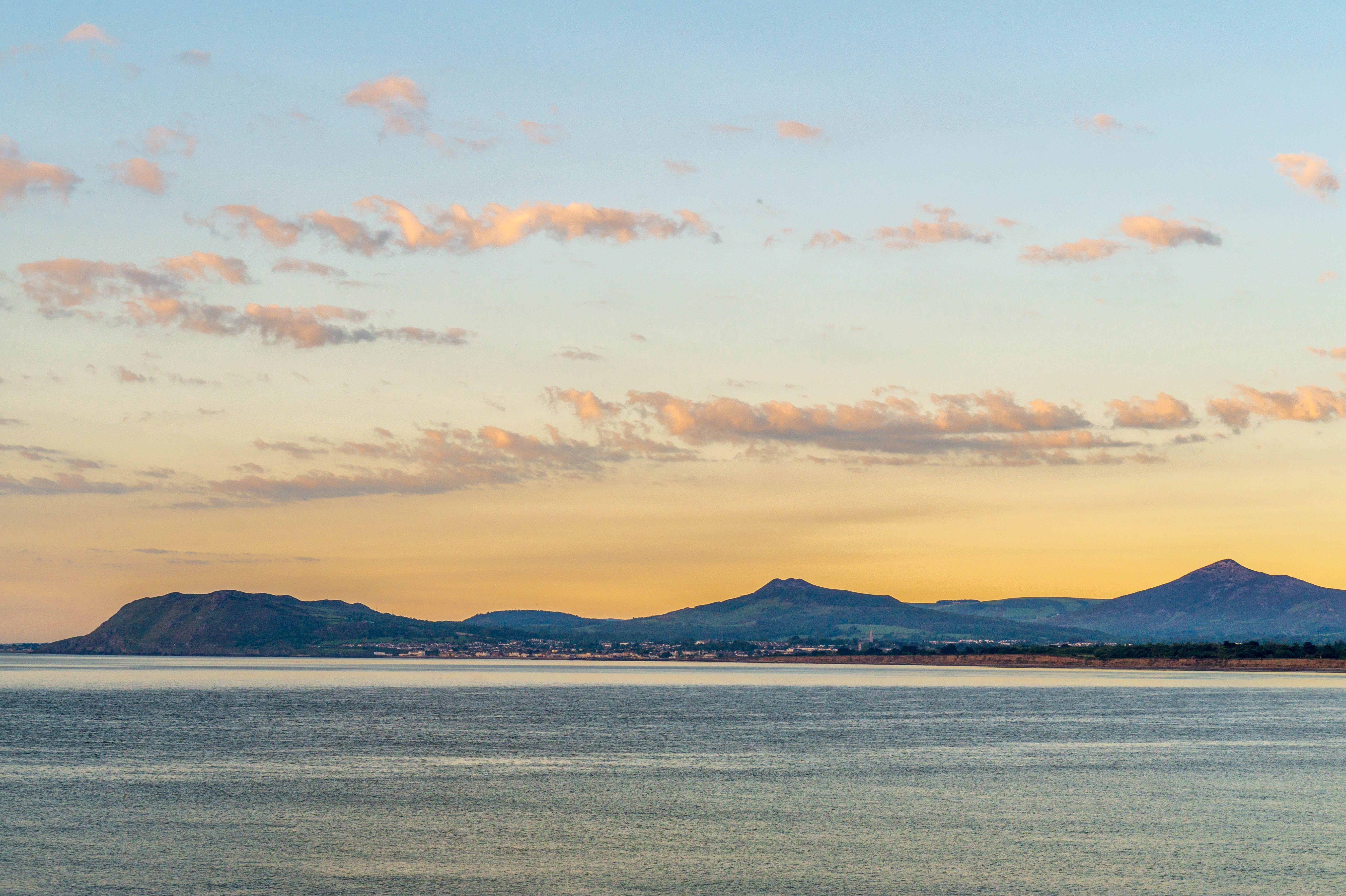 Daybreak looking towards Bray Head and the Sugarloaf