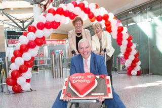 "Niall MacCarthy, Managing Director, Kathleen Walshe, Communications and Lillabeth Horne, Head of Retail Cork & Shannon Airport in Cork Airport to mark the 10th birthday of new terminal in Cork Airport.Cork Airport celebrated the 10th birthday of its terminal building today. Since it first opened in August 2006, over 25 million people have travelled through Cork Airport's ""state of the art"" terminal and facilities.Niall MacCarthy, Managing Director at Cork Airport said: ""We wanted to mark the important occasion of the 10th anniversary of the new terminal building."