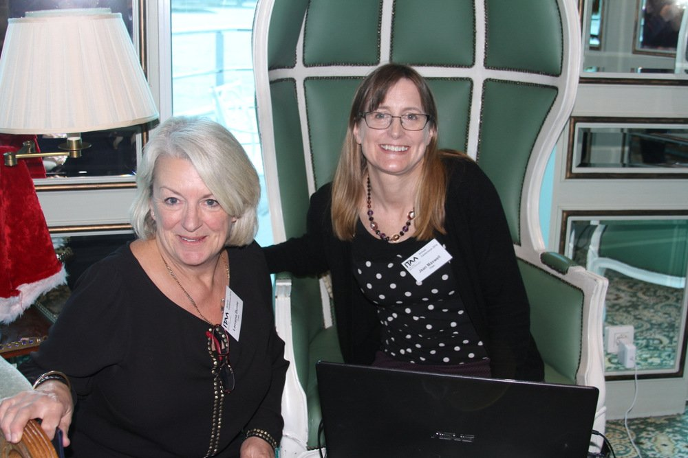 The ITAA staff of Lorraine Dunne and Jean Maxwell.