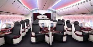 Qatar Airways B787 Dreamliner Business Class