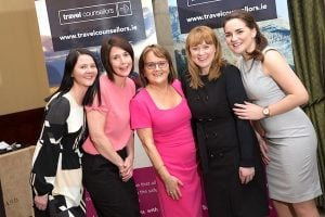 Travel Counsellors' Cork Head Office team: Caitriona Kelleher, Ciara MacConnell, Cathy Burke, Bernie Whelan, and Rachael O'Connell