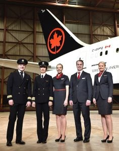 Air Canada crew with new uniforms