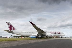 Qatar Airways' Airbus A350 XWB lands in Dublin. The 199-aircraft fleet currently includes 18 A350s and another 66 are on order