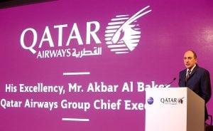 Akbar Al Baker, Chief Executive, Qatar Airways Group, addresses his guests