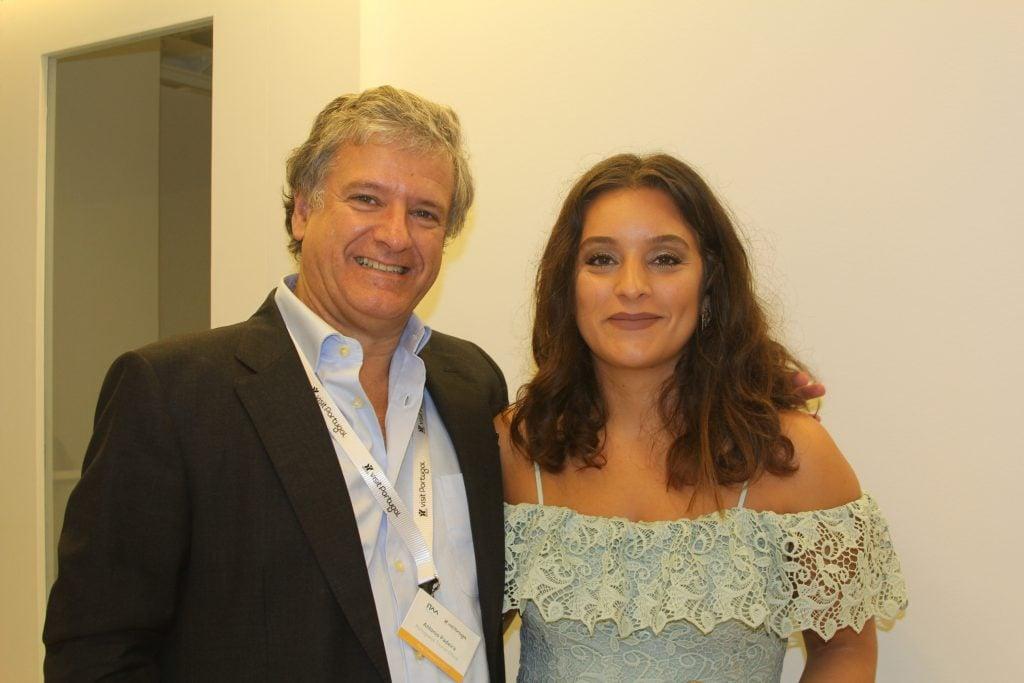 Antonio Padeira and Celina Tavares from the Portuguese Tourist Office.