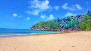 Tropical beach on Magnetic Island
