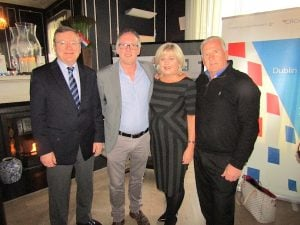 Jim Vaughan, JustSplit.com; Ben Greene, Arrow Tours; Carol Anne O'Neill, Worldchoice Ireland; and Des Abbott, Des Abbott Travel